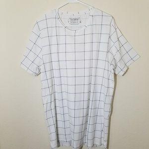 Pull & Bear Graph Design White T-shirt Size Large